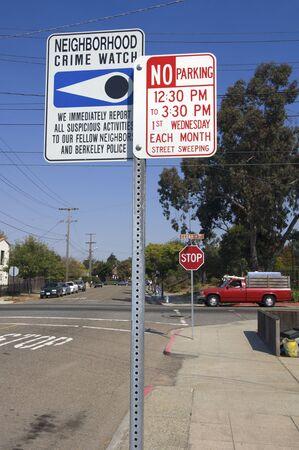 Several warning signs in Berkeley, San Francisco, United States photo
