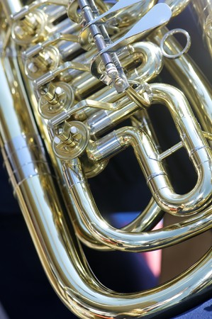 forefront: forefront of the moving parts of a tuba