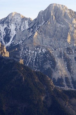 rocky peaks in winter, Pyrenees, Spain Stock Photo - 6994979