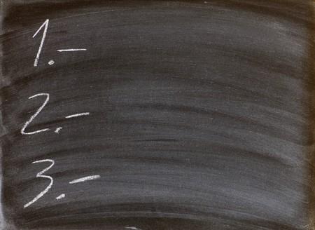 todo: to-do list written on a blackboard