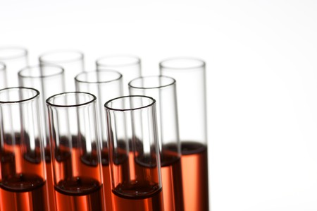 group of laboratory test tubes with red liquid inside Stock Photo - 7082069