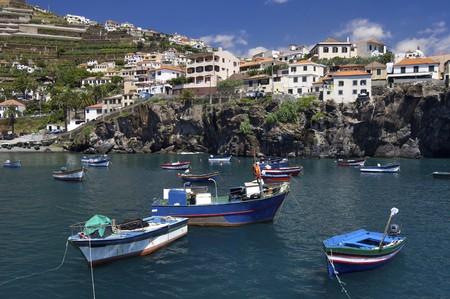 fishing port on the island of madeira photo
