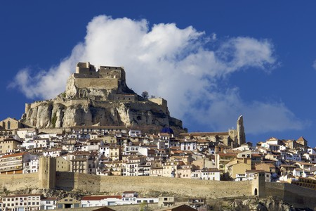 walled: walled village of Morella in Spain