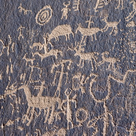 pintura rupestre: Petroglifo indio en peri�dicos rock, Utah