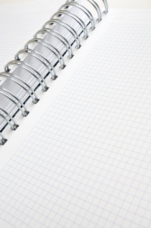 forefront: forefront of a spiral notebook with graph paper