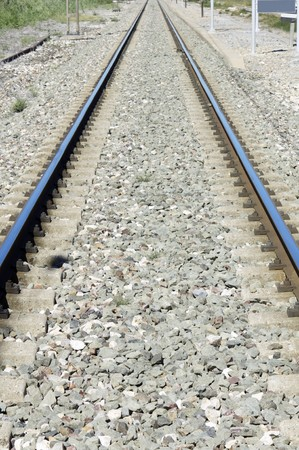 view of a railway line that goes to the horizon Stock Photo - 7974436