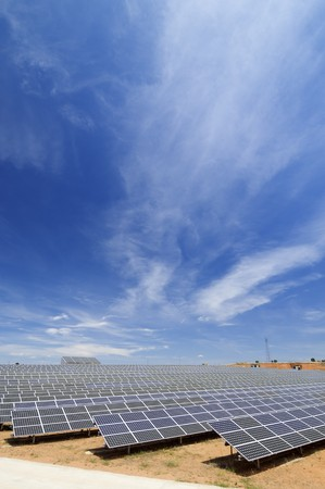 solar field for electric power generation with idyllic heaven Stock Photo - 8159819