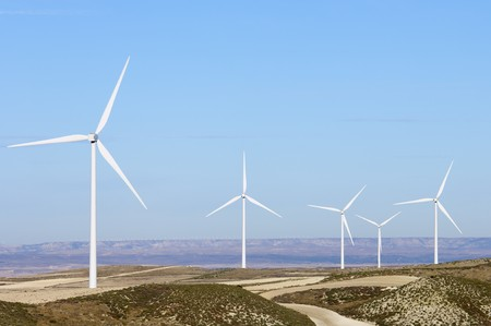 turbines for electricity on a clear day Stock Photo - 8159813