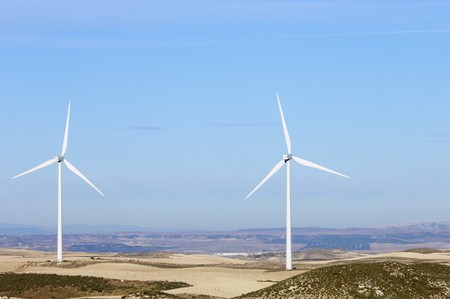 turbines for electricity on a clear day Stock Photo - 8159809