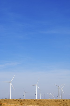 group of windmills for electric power generation alternative Stock Photo - 8159842