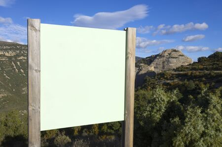 green signboard with blue sky Stock Photo - 8160098