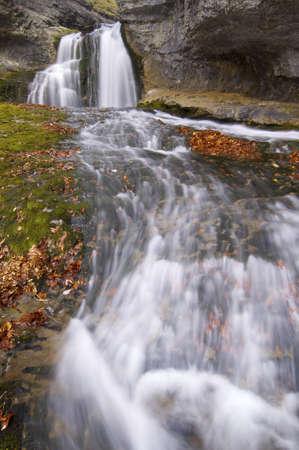 ordesa: view of a waterfall in  Ordesa Valley, Pyrenees, Spain