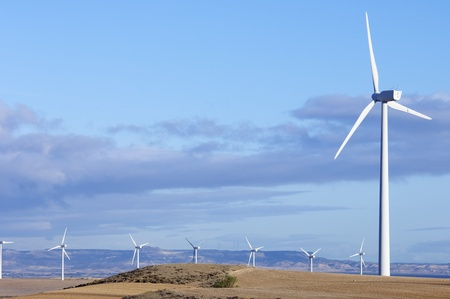 turbines for electricity production with blue sky Stock Photo - 8334797
