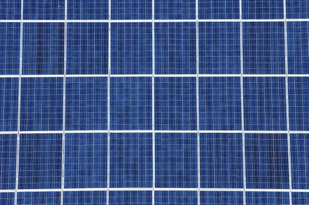 photoelectric: foreground of a photovoltaic panel for renewable energy production Stock Photo