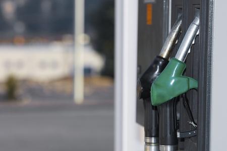 Close hose  spout of a gas station photo
