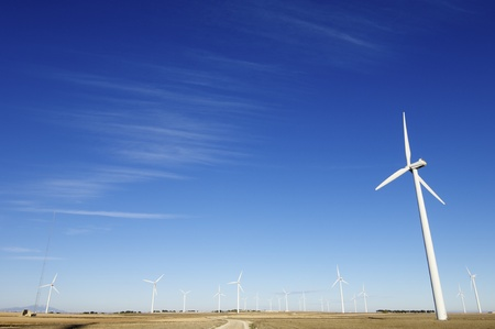 group of windmills for electric power generation alternative Stock Photo - 8485846