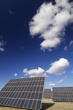 group of solar panels for production of renewable electrical energy Stock Photo - 8562997
