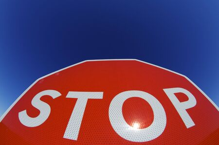 stop word written on a traffic signal Stock Photo - 8562996
