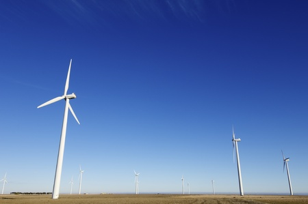 group of windmills for electric power generation alternative Stock Photo - 8632264