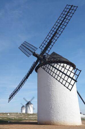 group of  traditional windmills in Campo de Criptana, Ciudad Real, Castilla La Mancha, Spain photo