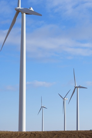 windmills group for electric power generation alternative Stock Photo - 8679035