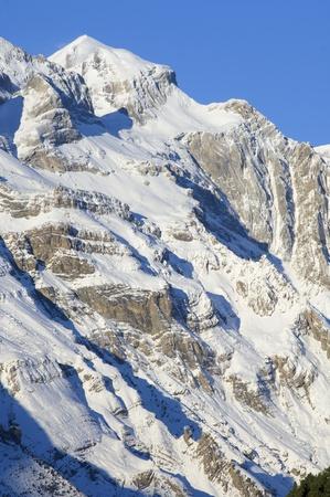 ordesa: Monte Perdido Massif in Ordesa national Park, Pyrenees mountains, Huesca, Aragon, Spain