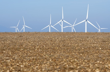 turbines for electricity on a clear day Stock Photo - 8731476