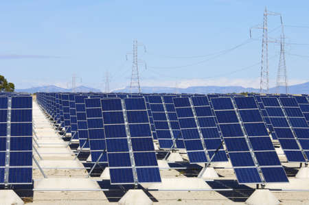 forefront: forefront of solar panels for power production