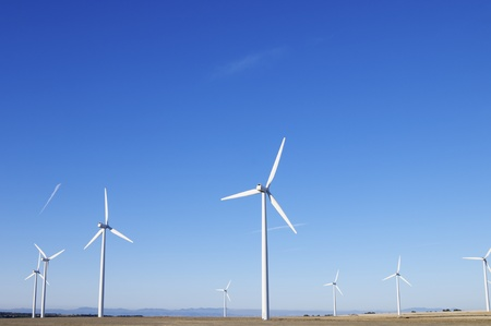 turbines for electricity production with blue sky Stock Photo - 8731512