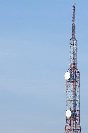 view of a telecommunication tower with blue sky Stock Photo - 8904621