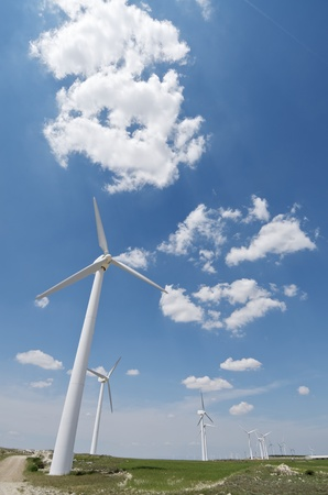 group of  windmills for renewable electric  energy production Stock Photo - 9662096