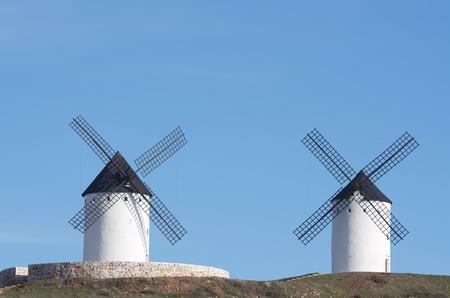 castilla la mancha: traditional windmills in Alcazar de San Juan, Ciudad Real, Castilla La Mancha, Spain