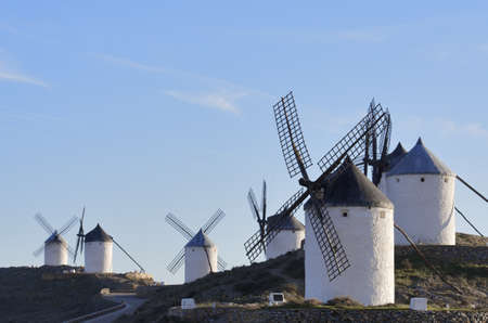windmills in Consuegra, Toledo, Castilla La Mancha, spain photo