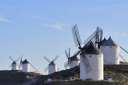 la: windmills in Consuegra, Toledo, Castilla La Mancha, spain