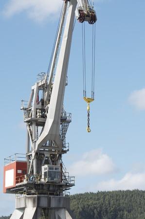 large port crane in the port of Aviles, Asturias,  Spain photo