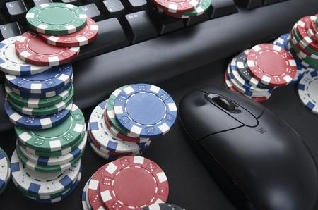 fichas de casino: vista de fichas de casino para jugar y jugar en l�nea Foto de archivo