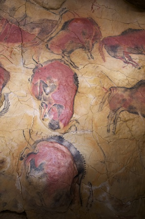 view of  the reproduction of the prehistoric  paintings of the Altamira Cave, Cantabria,  Spain