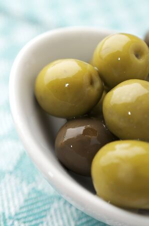 forefront: forefront of a typical Spanish green olives Stock Photo
