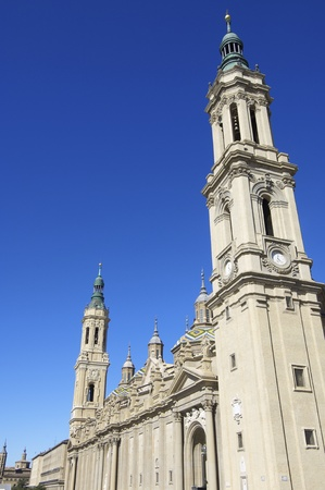 View of the  basilica of the Virgen del Pilar, Zaragoza, Aragon, Spain Stock Photo - 10743162