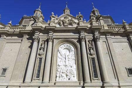 View of  the sculpture of the Virgen del Pilar, Zaragoza, Aragon, Spain Stock Photo - 10743156