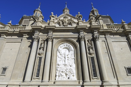 View of  the sculpture of the Virgen del Pilar, Zaragoza, Aragon, Spain Stock Photo - 10743156