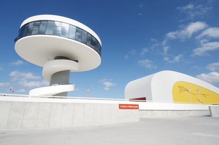 Aviles, Spain,  August 10, 2011: designed by Oscar Niemeyer, the Niemeyer Center offers a  multidisciplinary program dedicated to the most diverse art and cultural events. Stock Photo - 10738431
