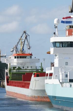 aviles: cargo  ship in the port of Aviles, Asturias, Spain Editorial