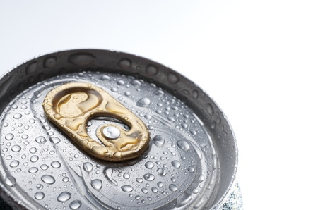 fore the closure of an aluminum can of soda Stock Photo - 11157746