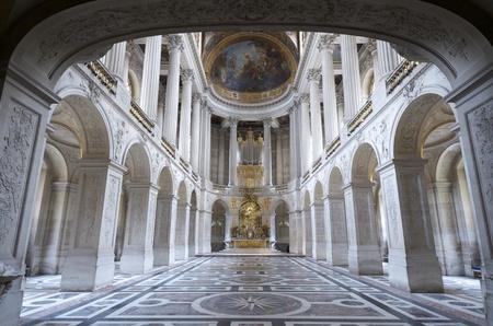 Innenansicht der Königlichen Kapelle von Schloss Versailles, Frankreich Editorial