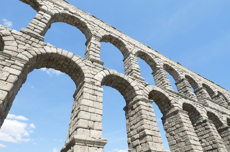 millennial: view of the aqueduct of Segovia, Castilla Leon, Spain Stock Photo
