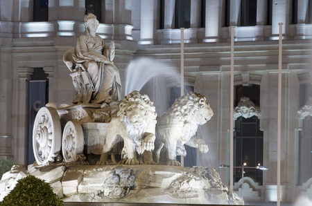 forefront: forefront of the Cibeles fountain, Madrid, Spain