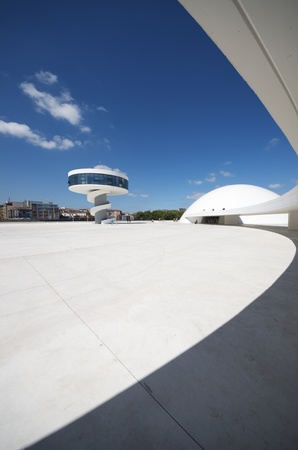 aviles: Aviles, Spain,  August 10, 2011: designed by Oscar Niemeyer, the Niemeyer Center offers a  multidisciplinary program dedicated to the most diverse art and cultural events. Editorial