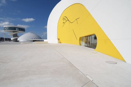 Aviles, Spain,  August 10, 2011: designed by Oscar Niemeyer, the Niemeyer Center offers a  multidisciplinary program dedicated to the most diverse art and cultural events.