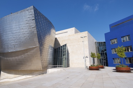 Bilbao, Biscay, Basque Country, Spain, July 30, 2011: view of the  Guggenheim Museum. Guggenheim Museum is dedicated  exhibition of modern art and was  designed by architect Frank Gehry. Stock Photo - 11147401